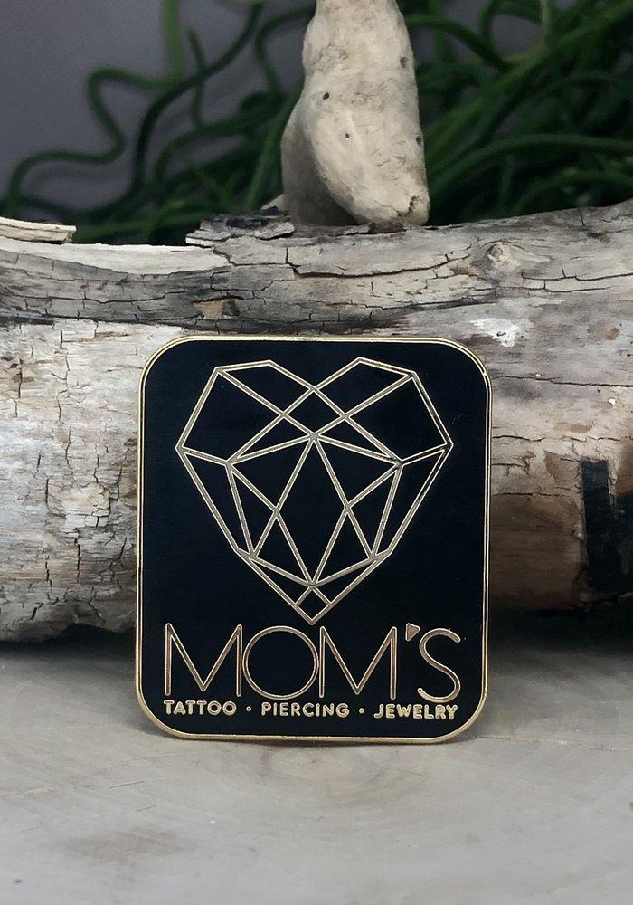 Moms Modern Logo Enamel Pin Black / Yellow Gold
