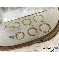 Yellow Gold Seam Ring