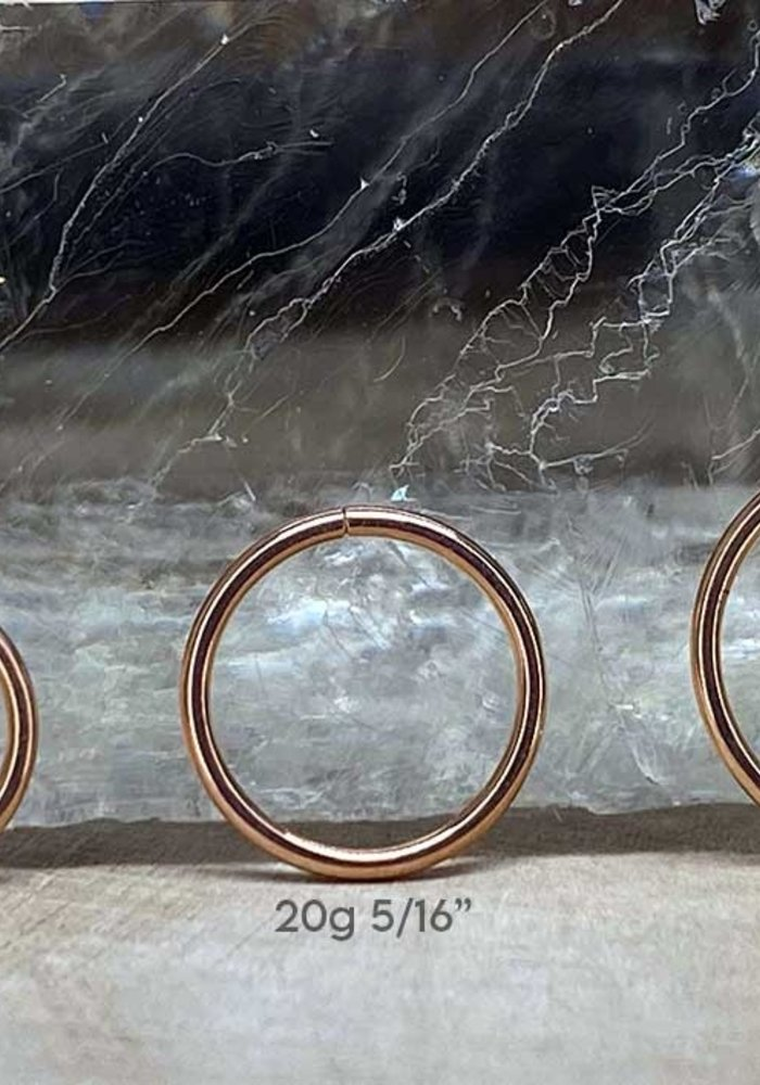 Rose Gold Seam Ring