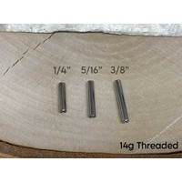Straight Barbell Post Titanium Threaded