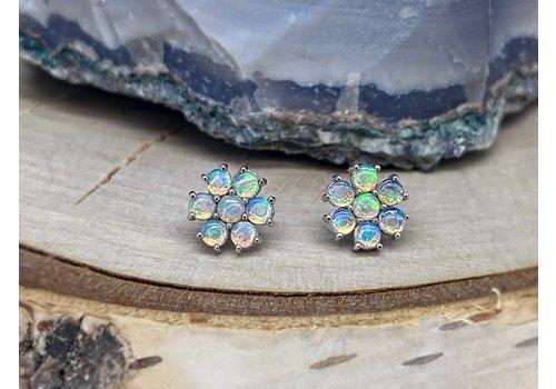 Buddha Jewelry Organics Buddha Jewelry Solange Solid White Gold with White Opal Threadless