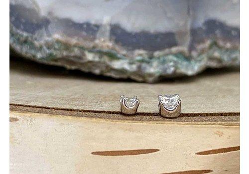 Junipurr Junipurr Prong CZ White Gold 2.5mm Threadless