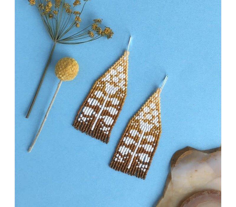 ABELL Designs Mustard Ombre Folk Flowers