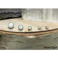 Neometal Bezel Cabochon Titanium White Opal Threadless