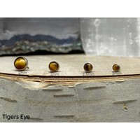 Neometal Bezel Cabochon Titanium Genuine Tiger's Eye Threadless