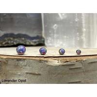 Neometal Bezel Cabochon Titanium Lavender Opal Threadless