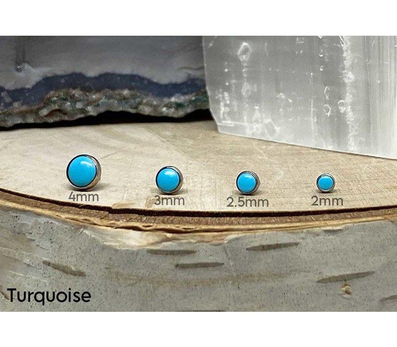 Neometal Bezel Cabochon Titanium Turquoise Threadless