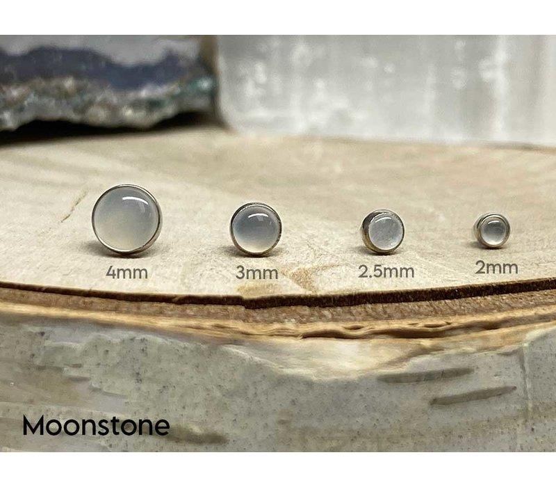 Neometal Bezel Cabochon Titanium Genuine Moonstone Threadless