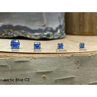 Neometal Prong Gem Titanium Arctic Blue CZ Threadless