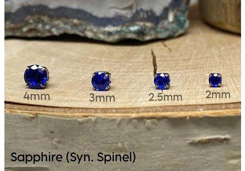 NeoMetal Neometal Prong Gem Titanium Sapphire (Syn. Spinel) Threadless