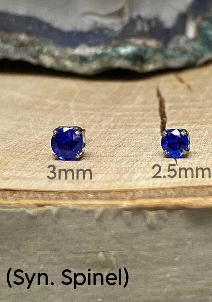 Neometal Prong Gem Titanium Sapphire (Syn. Spinel) Threadless