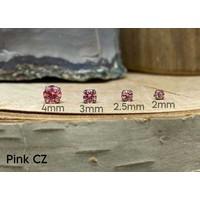 Neometal Prong Gem Titanium Pink CZ Threadless