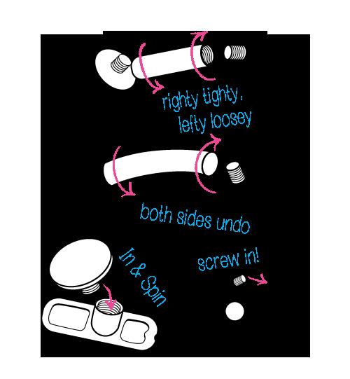 threaded jewelry all styles diagram