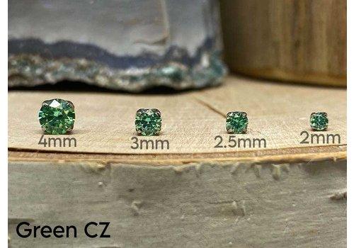 NeoMetal Neometal Prong Gem Titanium Green CZ Threadless