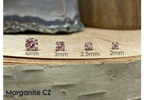 NeoMetal Neometal Prong Gem Titanium Morganite CZ Threadless