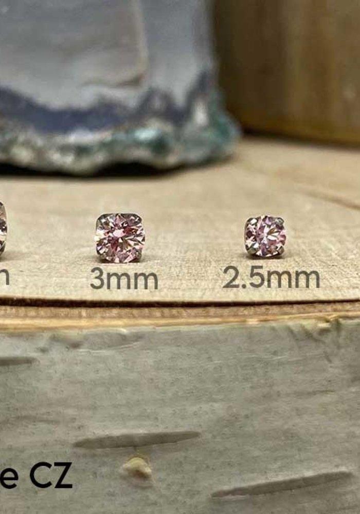 Neometal Prong Gem Titanium Morganite CZ Threadless