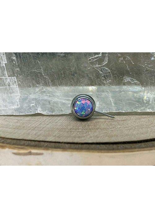 NeoMetal Neometal Nipple Side Gem Titanium 4mm Lavender Opal Threadless