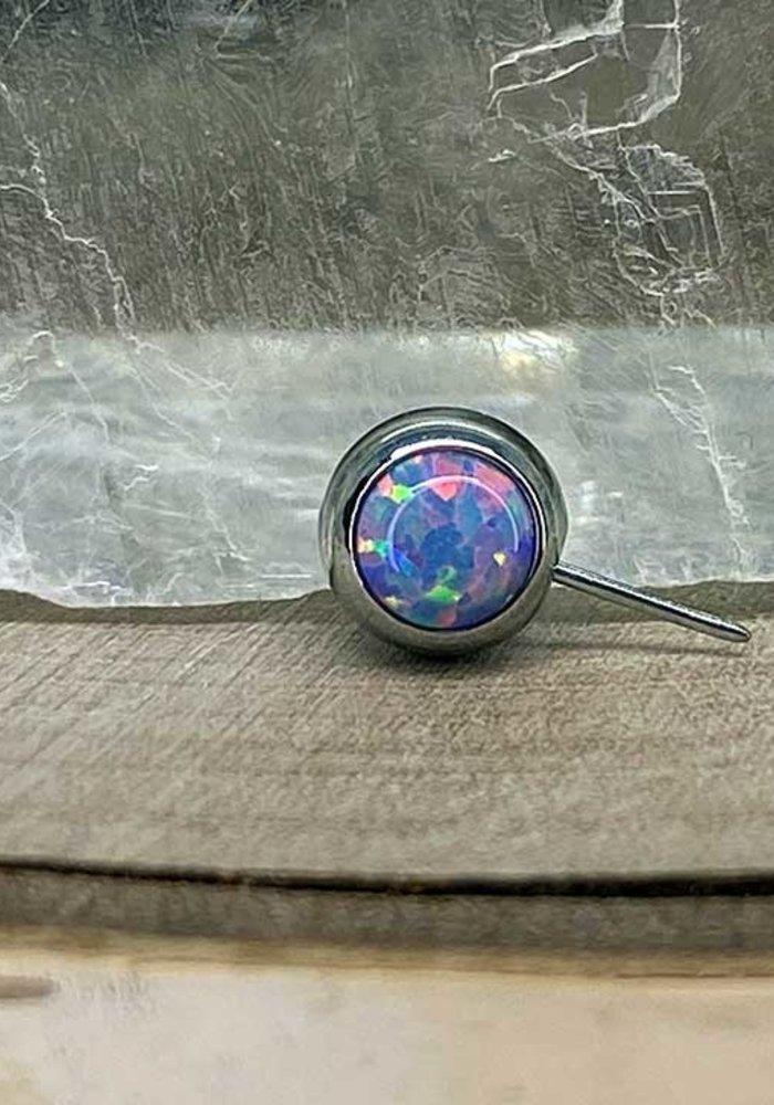 Neometal Nipple Side Gem Titanium 4mm Lavender Opal Threadless