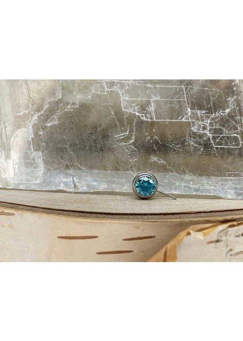 NeoMetal Neometal Nipple Side Gem Titanium 4mm Mint Green CZ Threadless