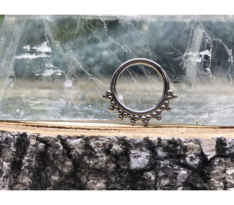 LeRoi Talia White Gold Seam Ring