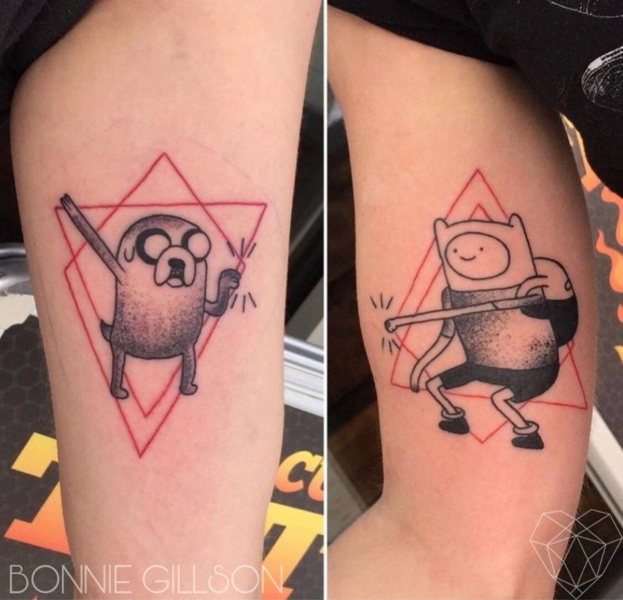 adventure time tattoo by Bonnie Gillson