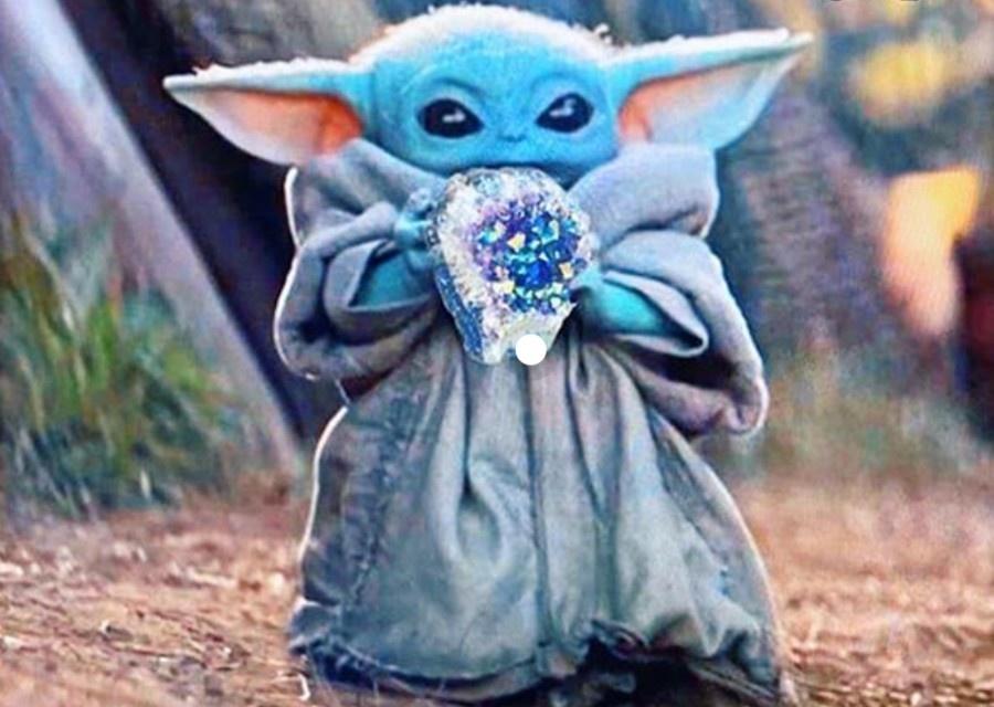 Baby Yoda Crystal Gem Jewelry