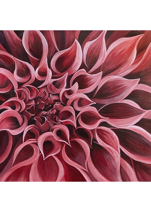 Dahlia canvas print- Beth Swilling