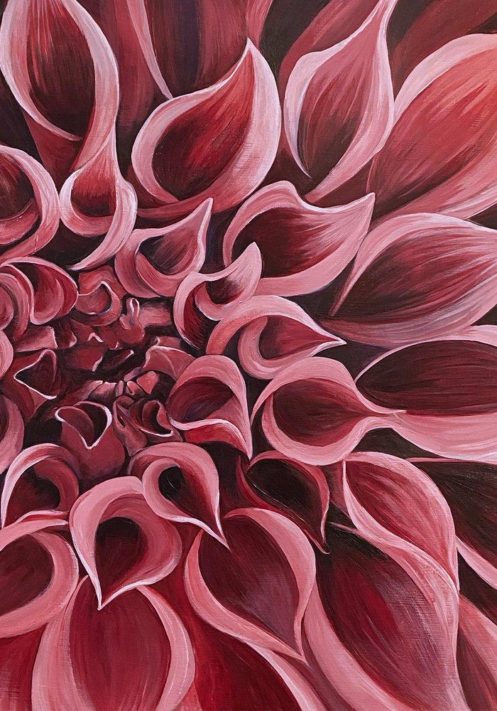 Dahlia painting print- Beth Swilling