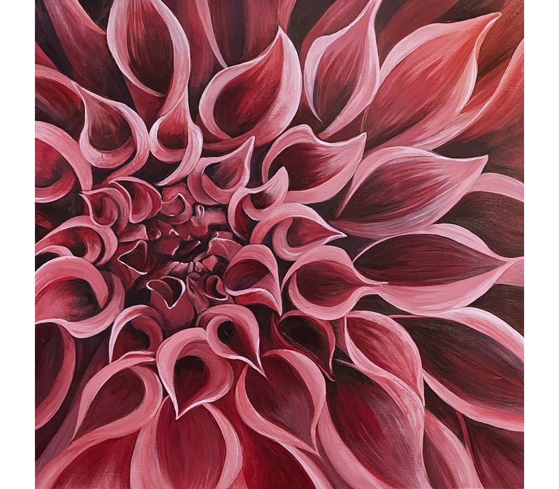 Dahlia painting - Beth Swilling