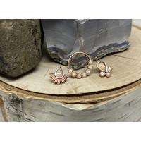 Tawapa Nightfall 14k Rose Gold with Genuine White Opal Threadless