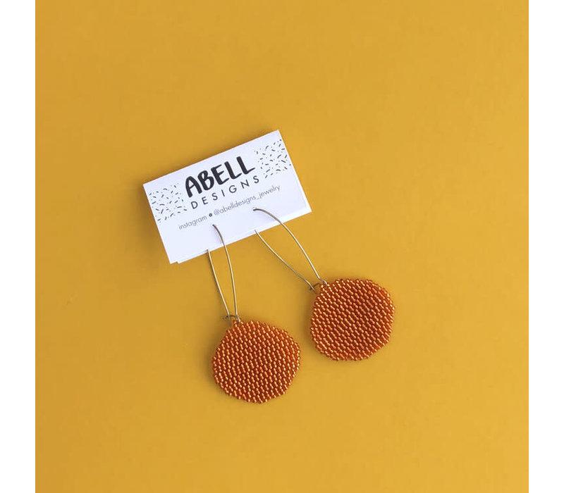ABELL Designs Orange Copper Circles