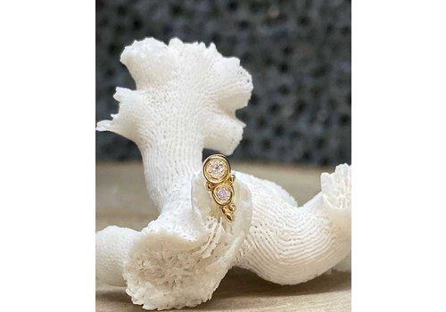 Tawapa Tawapa Prophecy Yellow Gold with (1) 2mm & 1.5mm Round White Diamond Threadless