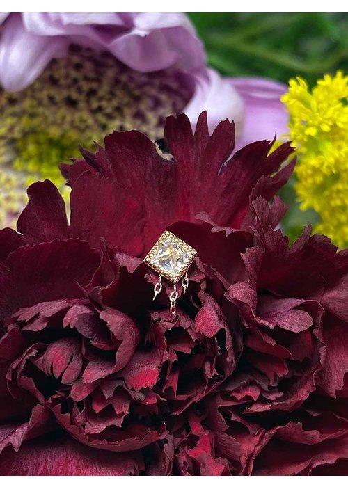 Buddha Jewelry Organics Buddha Jewelry The Hustle Solid Rose Gold with White CZ and Chains Threadless