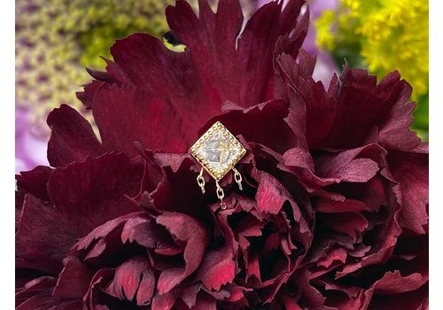 Buddha Jewelry Organics Buddha Jewelry The Hustle Solid Yellow Gold with White CZ and Chains Threadless