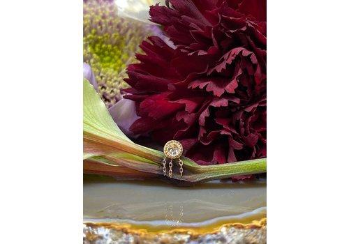 Buddha Jewelry Organics Buddha Jewelry Rebel Rebel Solid Rose Gold with White CZ and Chains Threadless