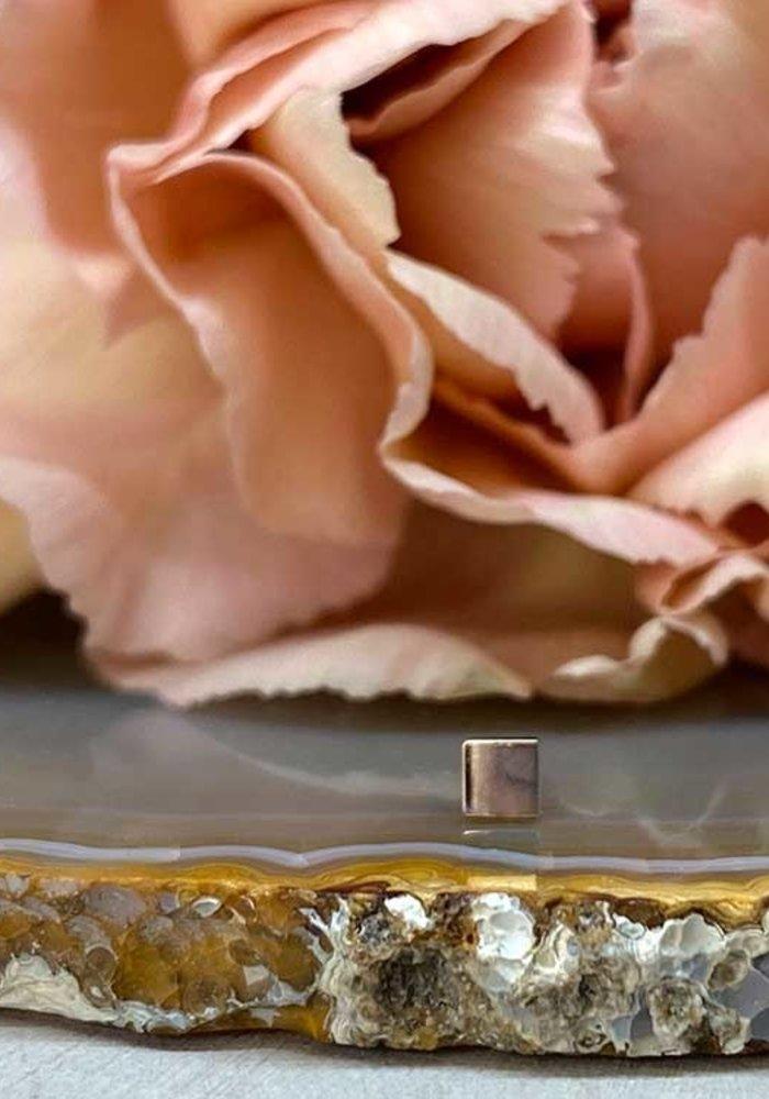 Modern Mood Plain Square Rose Gold Threadless