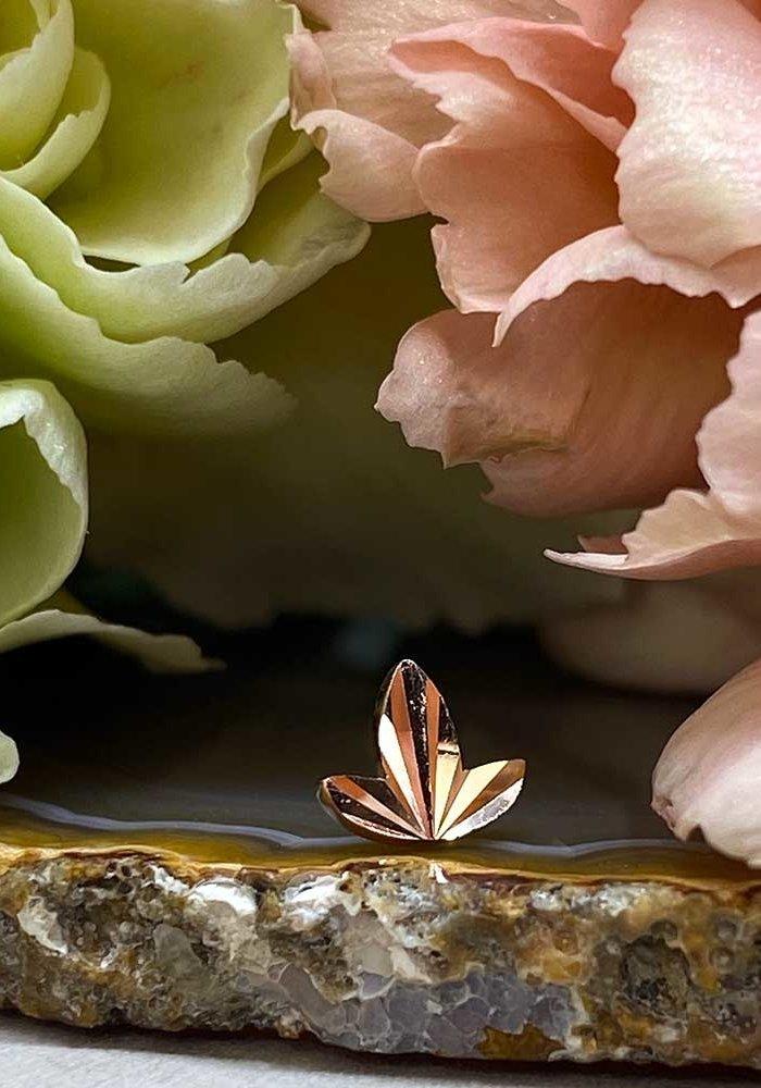 Buddha Jewelry Organics Goldleaf Rose Gold Threadless