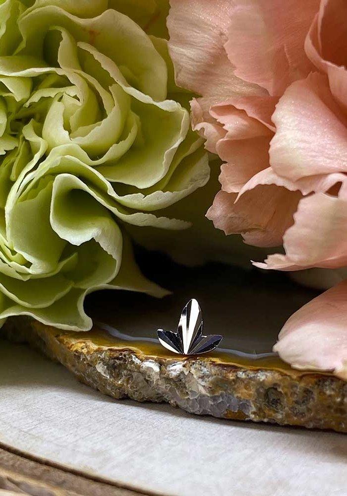 Buddha Jewelry Organics Goldleaf White Gold Threadless