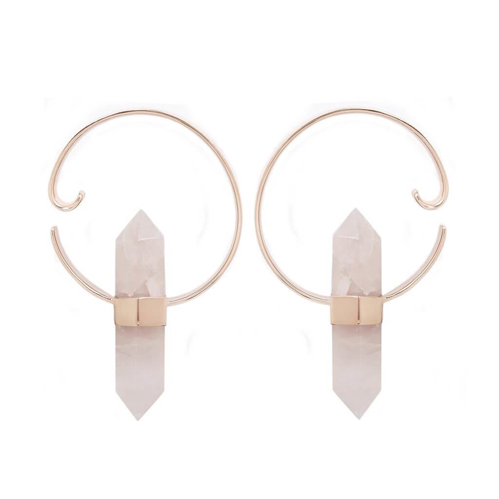 Rose Quartz Alchemy Earrings