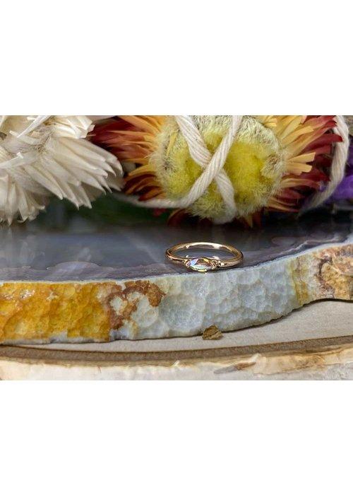"Buddha Jewelry Organics Buddha Jewelry Organics Zuri Rose Gold with Mercury Mist 18g 5/16"" Seam Ring"
