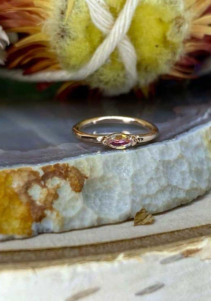 """Buddha Jewelry Organics Zuri Rose Gold with Mercury Mist 18g 5/16"""" Seam Ring"""
