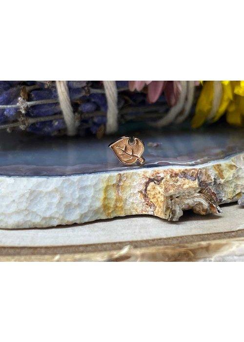 alchemy adornments Alchemy Adornment Leaf Rose Gold Threadless End