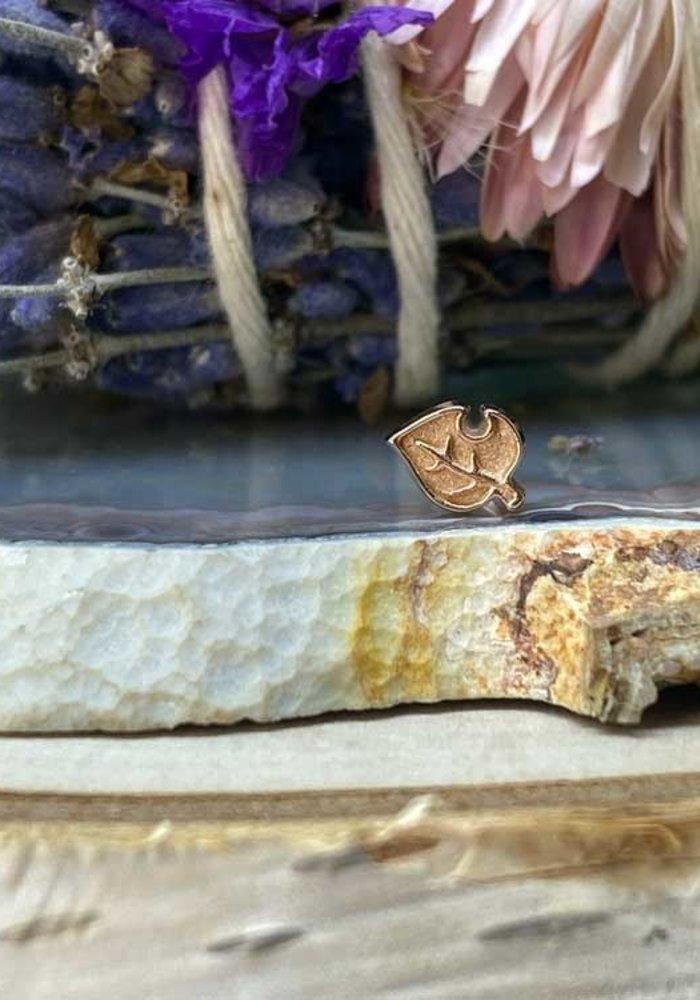 Alchemy Adornment Leaf Rose Gold Threadless End