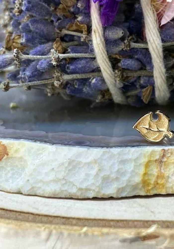 Alchemy Adornment Leaf Yellow Gold Threadless End