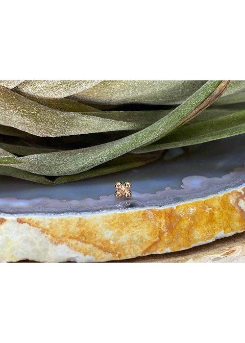 Junipurr Junipurr Quad Bead Rose Gold Threadless