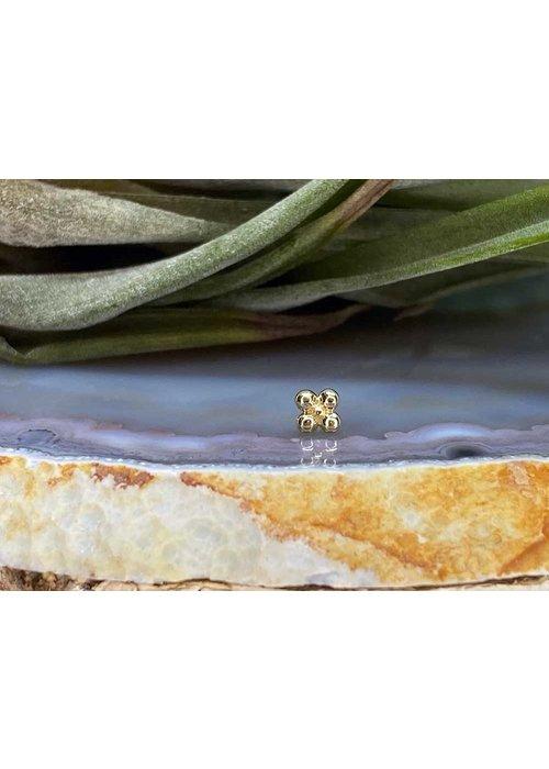 Junipurr Junipurr Quad Bead Yellow Gold Threadless