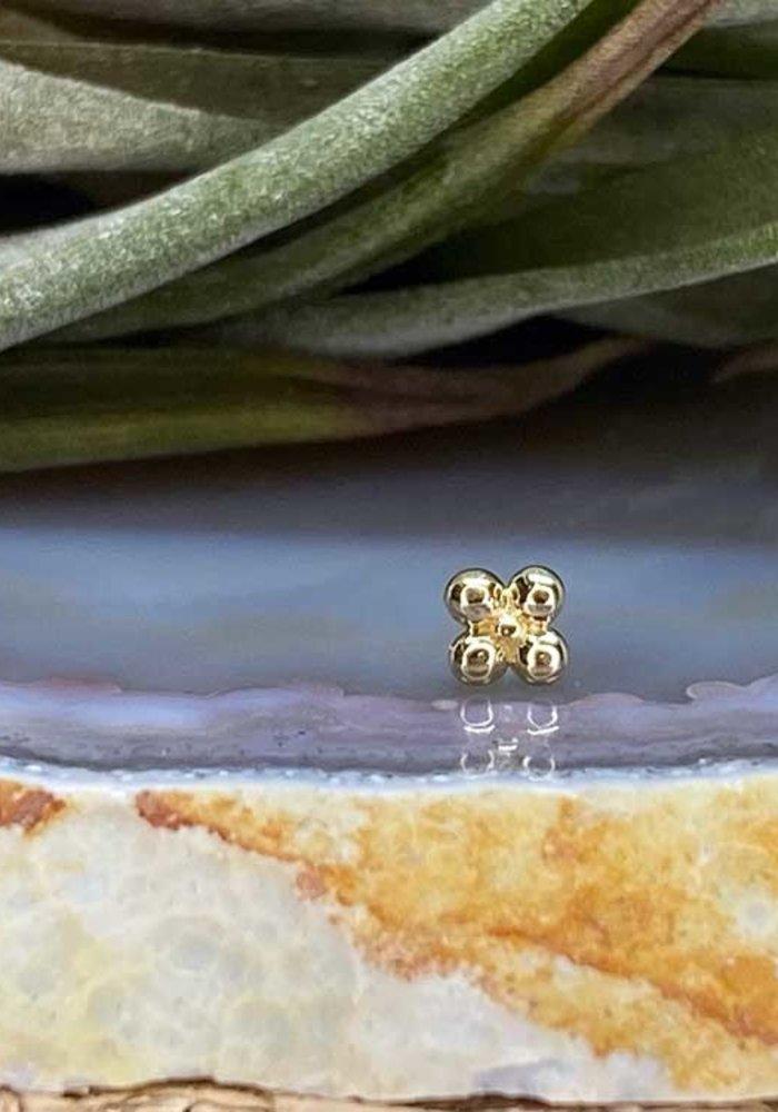 Junipurr Quad Bead Yellow Gold Threadless