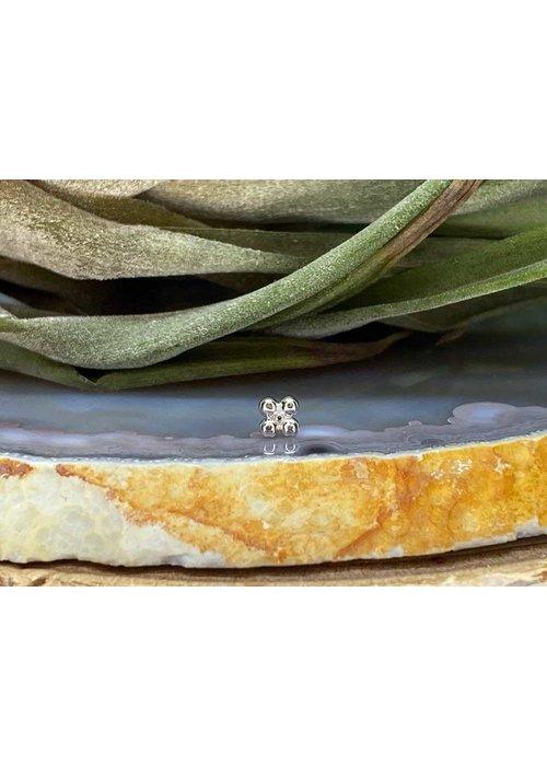 Junipurr Junipurr Quad Bead White Gold Threadless
