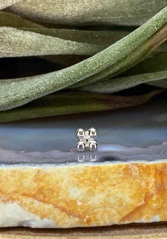 Junipurr Quad Bead White Gold Threadless