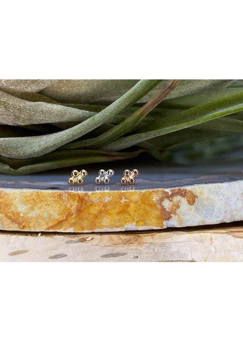 Junipurr Junipurr Beaded Diamond Rose Gold Threadless